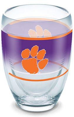 Clemson Tervis Stemless 9oz Wine Glass Reserve Wrap