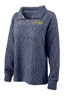ETSU Woolly Threads Slub Knit 1/4 Zip Pullover