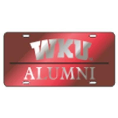 Western Kentucky License Plate Red Alumni
