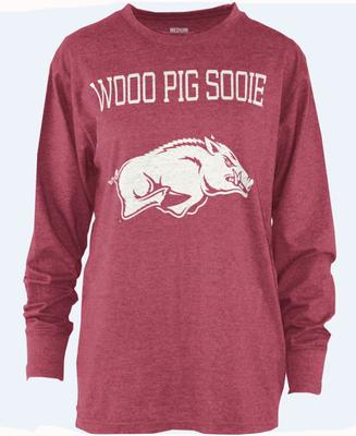 Arkansas Pressbox WPS Melange Long Sleeve Crew Tee