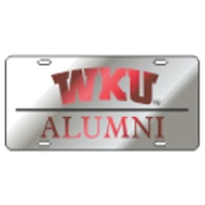 Western Kentucky License Plate Silver Alumni
