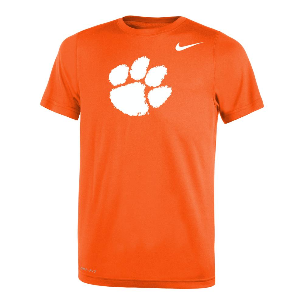 Clemson Nike Youth Dri- Fit Legend 2.0 Short Sleeve Tee