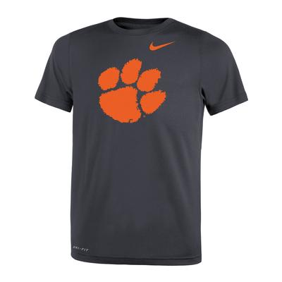 Clemson Nike Youth Dri-Fit Legend 2.0 Tee ANTHRACITE