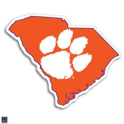 Clemson Paw and State 6
