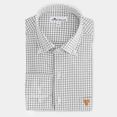 Tennessee Peter Millar Vault Logo Stretch Tattersall Sport Shirt