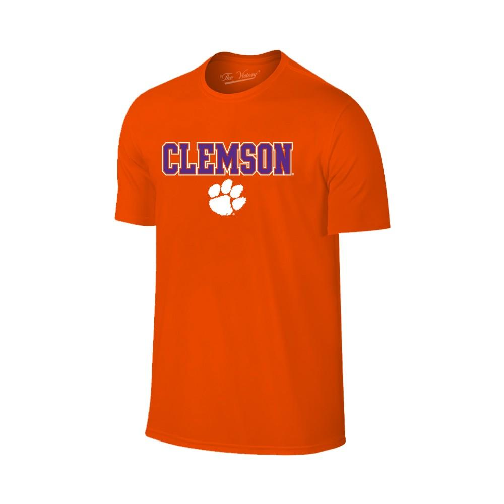 Clemson Youth Straight Wordmark Logo Tee