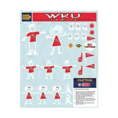 Western Kentucky Family Decal Sheet