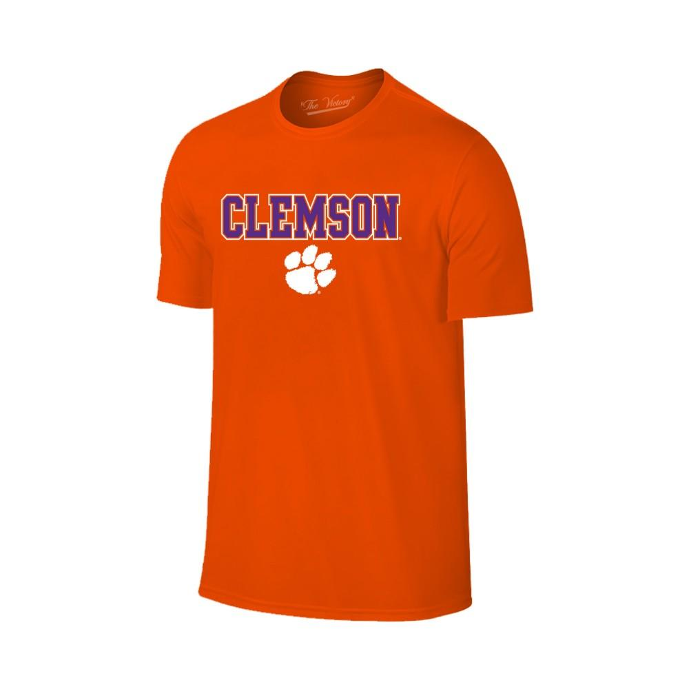 Clemson Straight Wordmark Logo Tee