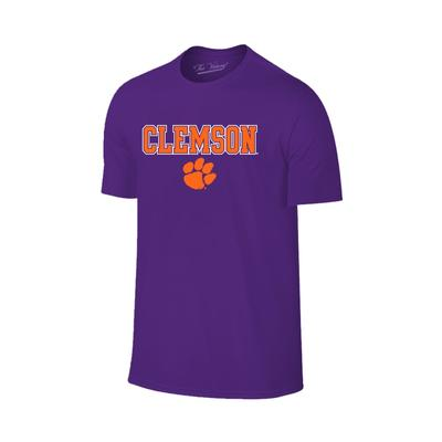 Clemson Straight Wordmark Logo Tee PURPLE