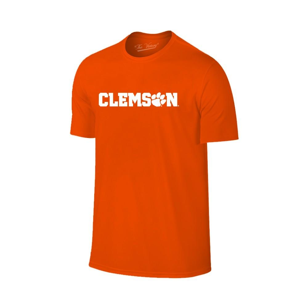Clemson Wordmark Paw Fill Tee