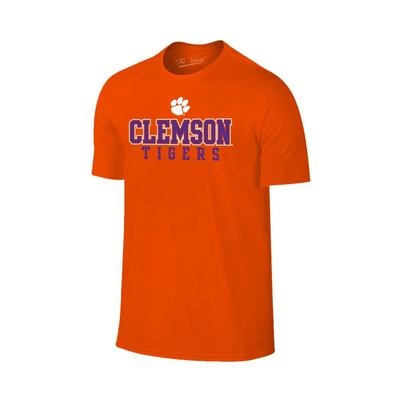 Clemson Stack with Paw Logo Tee