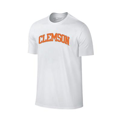 Clemson Arch Lined Tee WHT