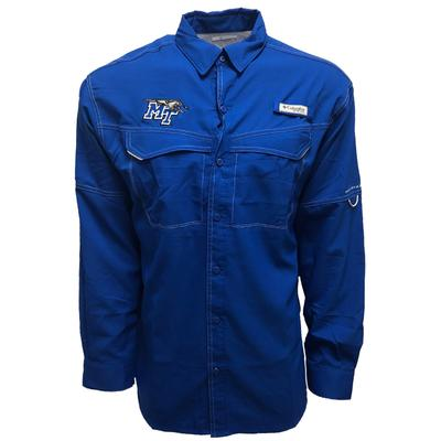 MTSU Columbia Low Drag Off Shore Long Sleeve Woven Shirt