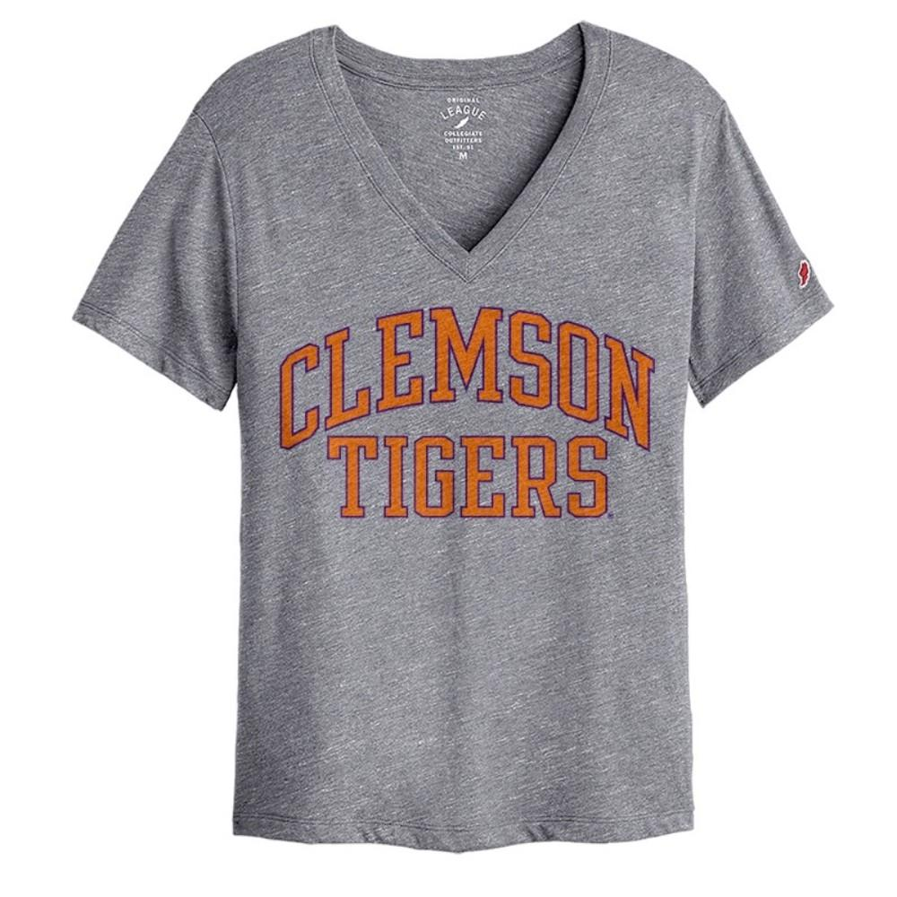 Clemson League Women's Intramural Boyfriend V- Neck Tee