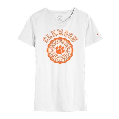 Clemson League Women's Freshy Tee WHITE