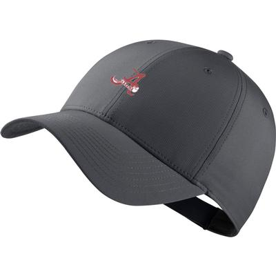 Alabama Nike Golf Dri-Fit Retro Script A Logo Tech Cap DK_GREY