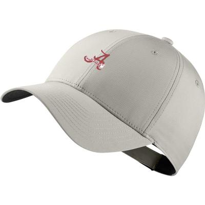 Alabama Nike Golf Dri-Fit Retro Script A Logo Tech Cap LT_BONE