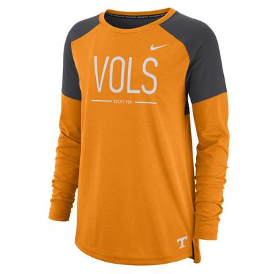 Tennessee Nike Women's Long Sleeve Tailgate Top