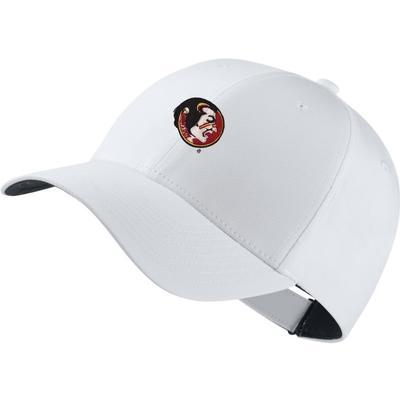 Florida State Nike Golf Dri-Fit Vault Seminole Tech Cap WHT