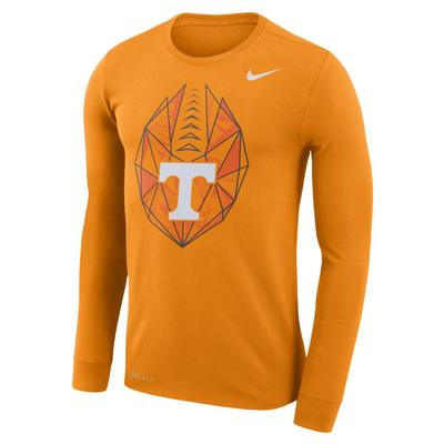 Tennessee Nike Dri-FIT Cotton Long Sleeve Football Icon Tee