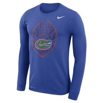 Florida Nike Dri-FIT Cotton Long Sleeve Football Icon Tee