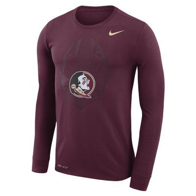 Florida State Nike Dri-FIT Cotton Long Sleeve Football Icon Tee