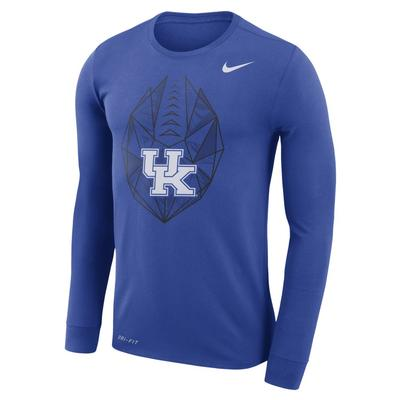 Kentucky Nike Dri-FIT Cotton Long Sleeve Football Icon Tee