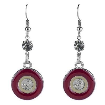 Florida State Circle Dangle Earrings