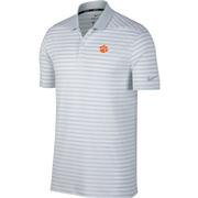 Clemson Nike Golf Dry Victory Stripe Polo