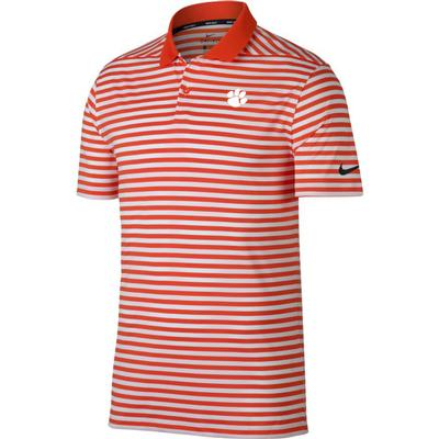 Clemson Nike Golf Dry Victory Stripe Polo