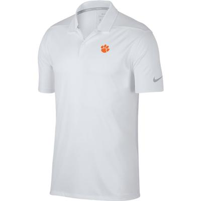 Clemson Nike Golf Dry Victory Solid Polo WHT