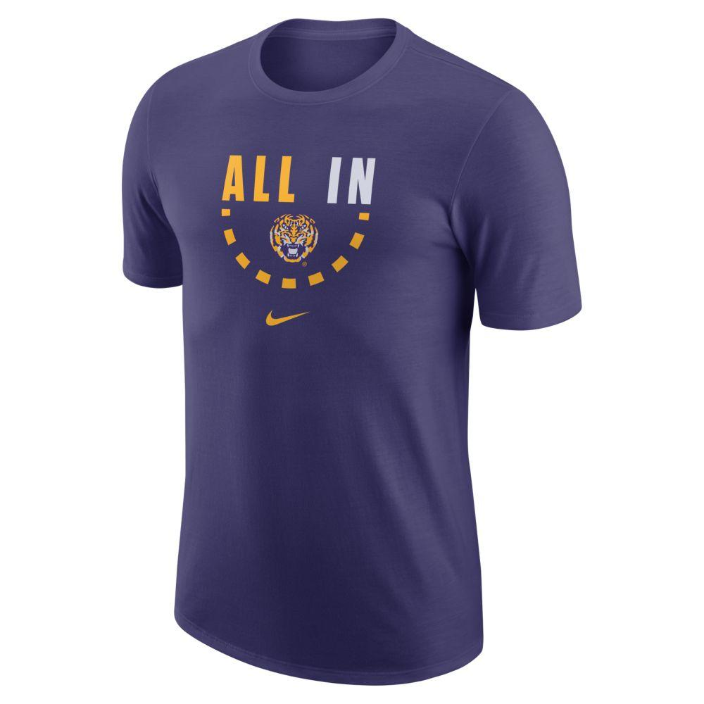 Lsu Nike Cotton Basketball Tee