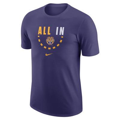LSU Nike Cotton Basketball Tee