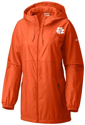 Clemson Columbia Women's Flashback Long Windbreaker