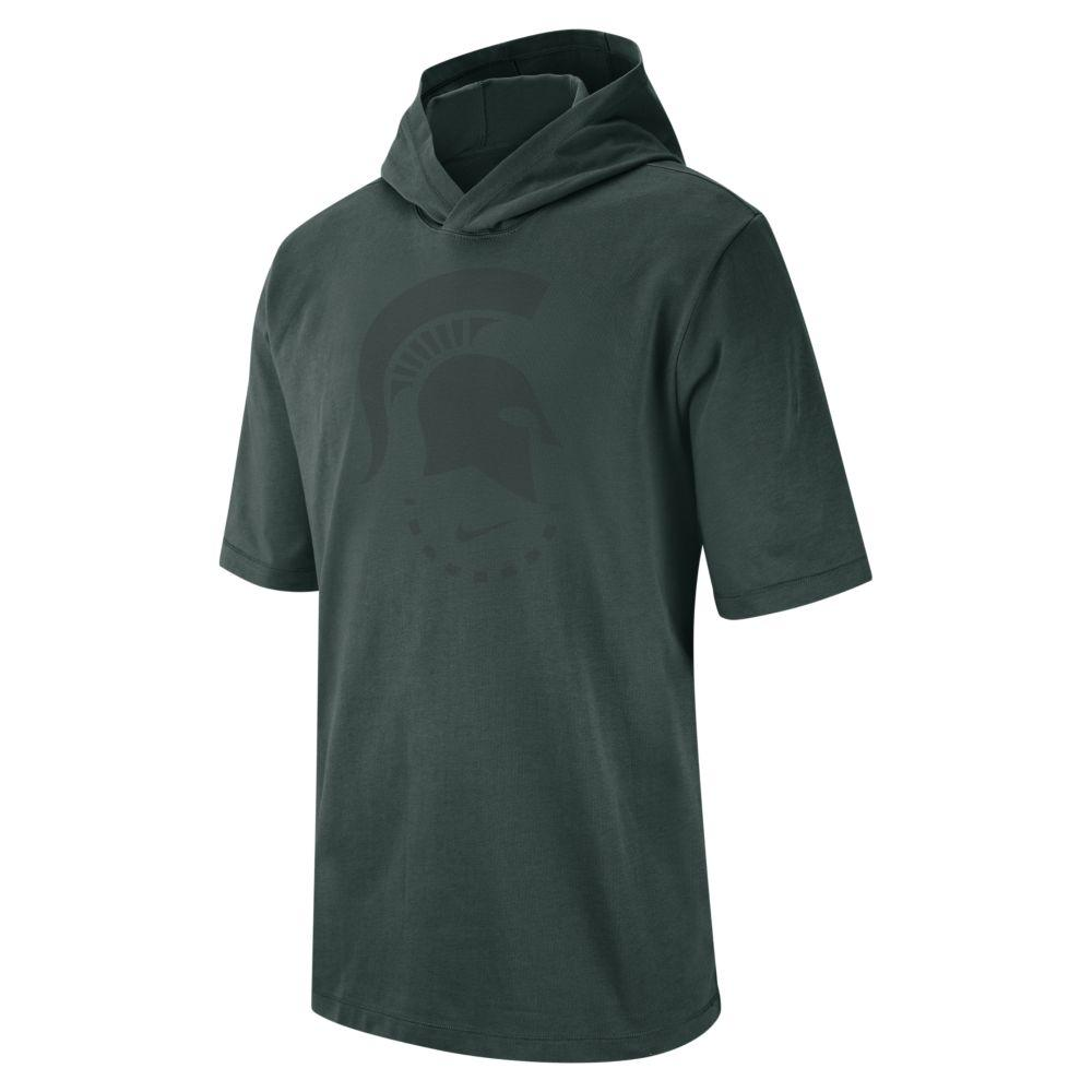 Michigan State Nike Short Sleeve Nrg Basketball Hoodie Tee