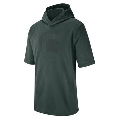 Michigan State Nike Short Sleeve NRG Basketball Hoodie Tee PRO_GRN