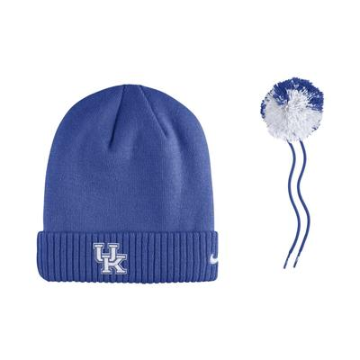 Kentucky Nike Sideline Removable Pom Beanie
