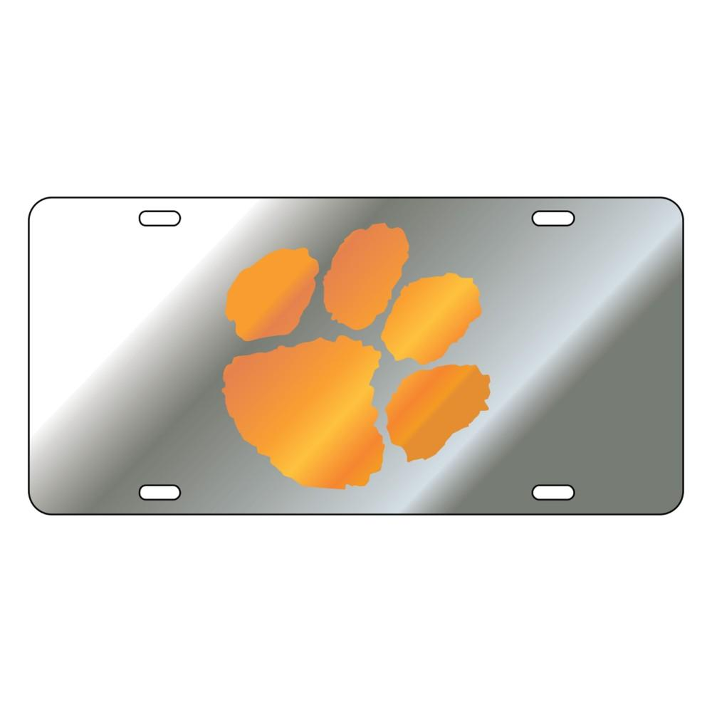 Clemson Mirror Paw License Plate