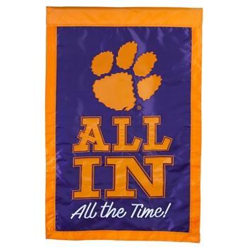 Clemson All In House Flag
