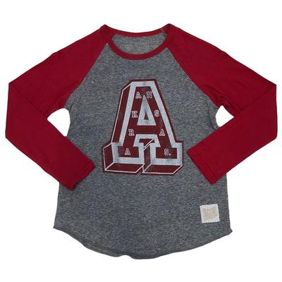 Arkansas Retro Brand Youth Block A Raglan Tee