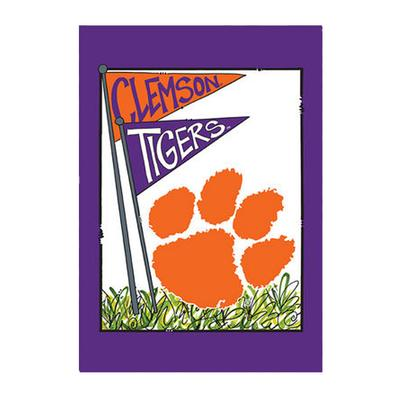 Clemson Magnolia Lane House Flag