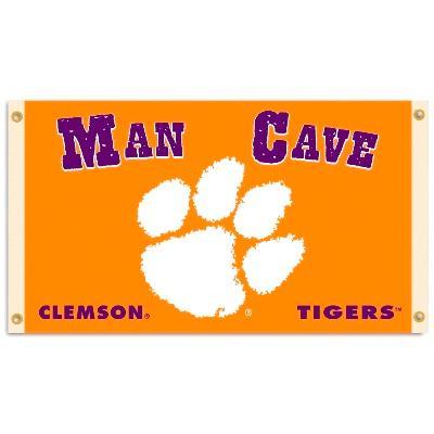 Clemson Tigers Man Cave Flag