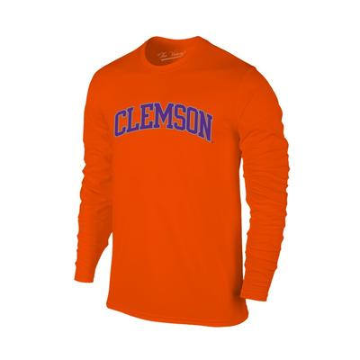 Clemson Women's Lined Long Sleeve Basic Arch Tee