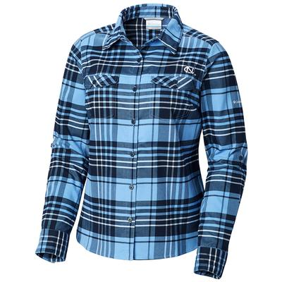 UNC Columbia Women's Silver Ridge Flannel Shirt
