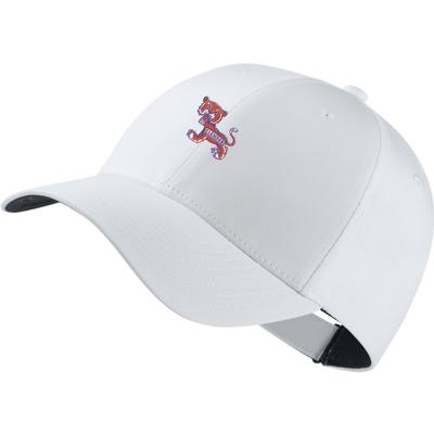 Clemson Nike Golf Dri-Fit Standing Tiger Tech Cap WHITE