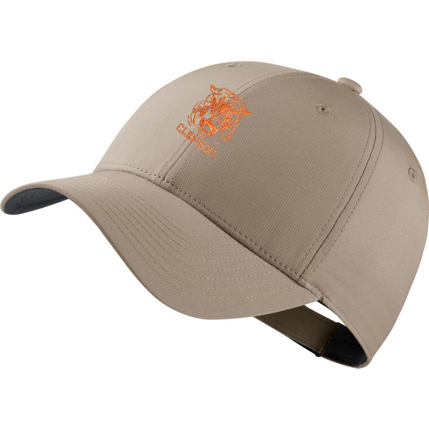 Clemson Nike Golf Dri- Fit Retro Tiger Logo Tech Cap