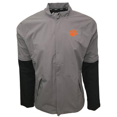 Clemson Nike Golf HyperShield Convertible Jacket GUNSMOKE