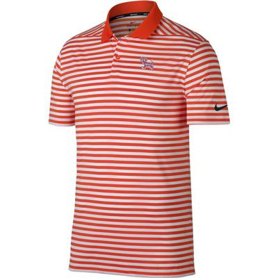 Clemson Nike Golf Dry Standing Tiger Victory Stripe Polo