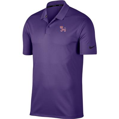 Clemson Nike Golf Dry Standing Tiger Victory Solid Polo PUR