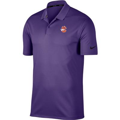 Clemson Nike Golf Vault Logo Dry Victory Solid Polo PUR